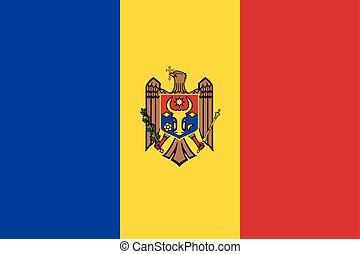 Moldova Flag. Vector Format