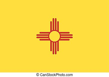 New Mexico State Flag, USA. Vector Format