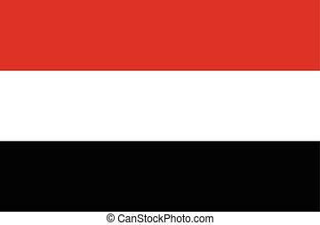 Yemen Flag. Vector Format