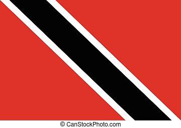 Trinidad and Tobago Flag. Vector Format