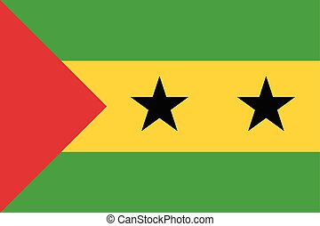 Sao Tome and Principe Flag. Vector Format