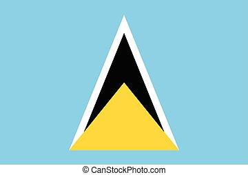 Saint Lucia Flag. Vector Format