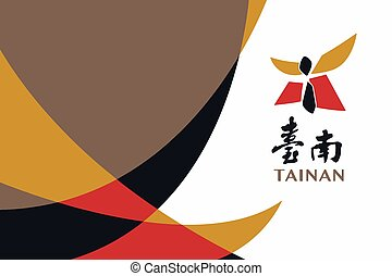 Flag of Tainan, Taiwan. Vector Format