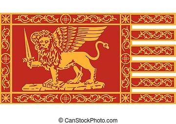 Flag of Venice, Italy. Vector Format