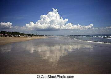 Indian ocean. Legian Beach. Bali. Indonesia