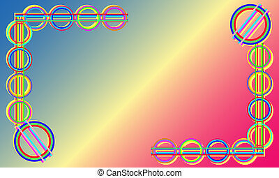 Abstract and modern spectral background frame in curve EPS...