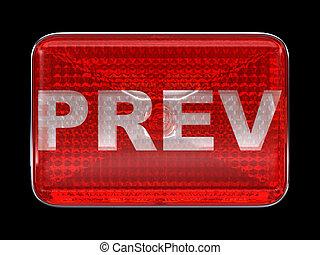Previous or prev red button