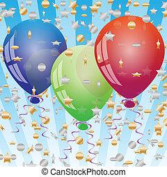Celebration background with balloon - Illustration...