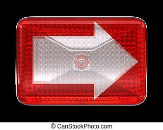 Right direction arrow button or headlight