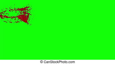 4k Blood Burst Slow Motion (Green Screen) 10 - Nice and real...
