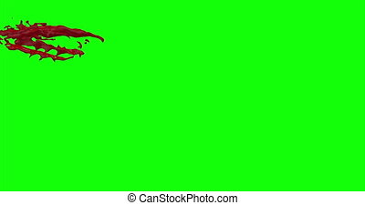 4k Blood Burst Slow Motion (Green Screen) 45 - Nice and real...