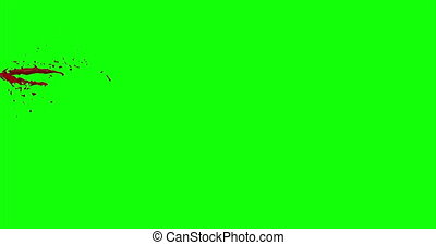 Blood Burst Slow Motion (Green Screen) 38 - Nice and real 4K...