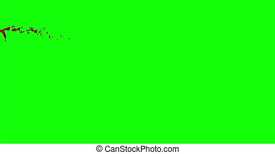 Blood Burst Slow Motion (Green Screen) 19 - Nice and real 4K...