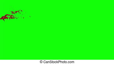 Blood Burst Slow Motion (Green Screen) 47 - Nice and real 4K...