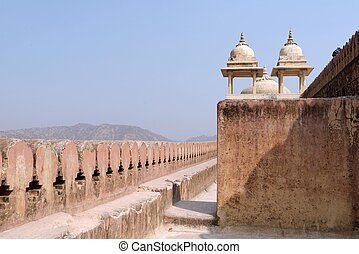 Landscape of ancient castle in India