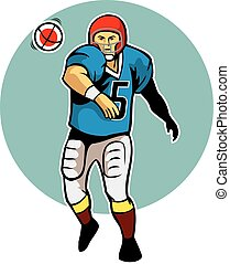 Throwing Ball Pose - A vector illustration for American...