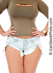 Woman torso - Torso of gorgeous sexy plus-size woman in...