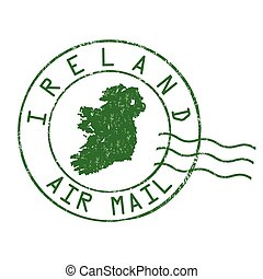 Ireland stamp or sign - Ireland post office, air mail,...