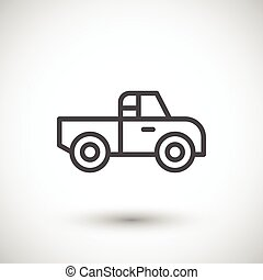 Pick up line icon isolated on grey. Vector illustration