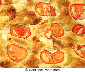 bread flatbread pizza with fresh tomato slices for sale by...