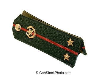 Military epaulets - Epaulets of military men of the Belarus...