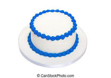 blanco, cumpleaños, pastel