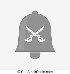 Isolated bell with  two swords crossed
