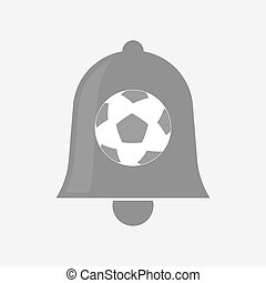 Isolated bell with  a soccer ball