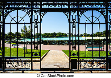 turquois pool in Bateria park - View of turquois pool in...