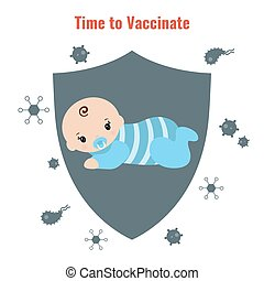 Vaccination concept poster - Vaccination and health concept....
