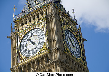 Big Ben, London - The clock tower of the Palace of...