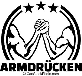 Arm wrestling (german) emblem