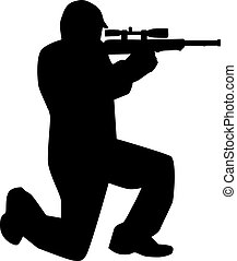Airsoft player silhouette