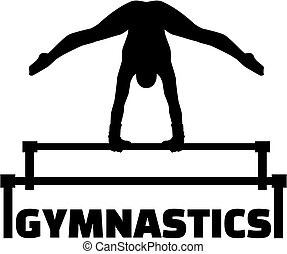 Gymnastics with uneven bars