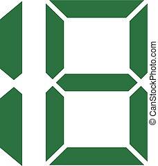 Eighteen digital number 18