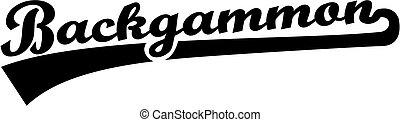 Backgammon word