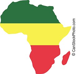 Africa with reggae flag