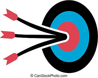 Target with arrows in middle