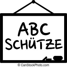 Blackboard with school starter german