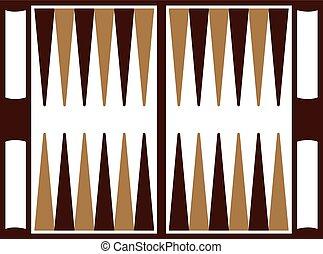 Backgammon wooden board