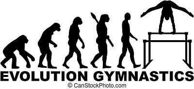 Evolution gymnastics with uneven bars