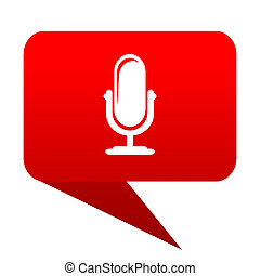 microphone bubble red icon
