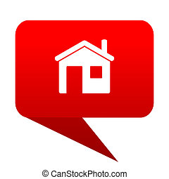 House bubble red icon
