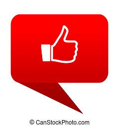 like bubble red icon