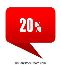 20 percent bubble red icon