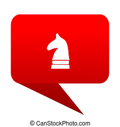 chess horse bubble red icon