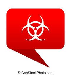 biohazard bubble red icon