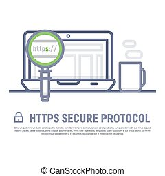 Https secure icon stock vector - Https secure protocol....