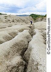 Berca, Romania - October 20, Mud vulcanoes on 20 October,...