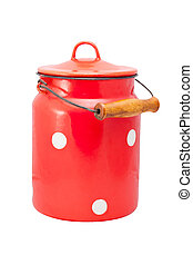 milk cans - Vintage milk cans with red color